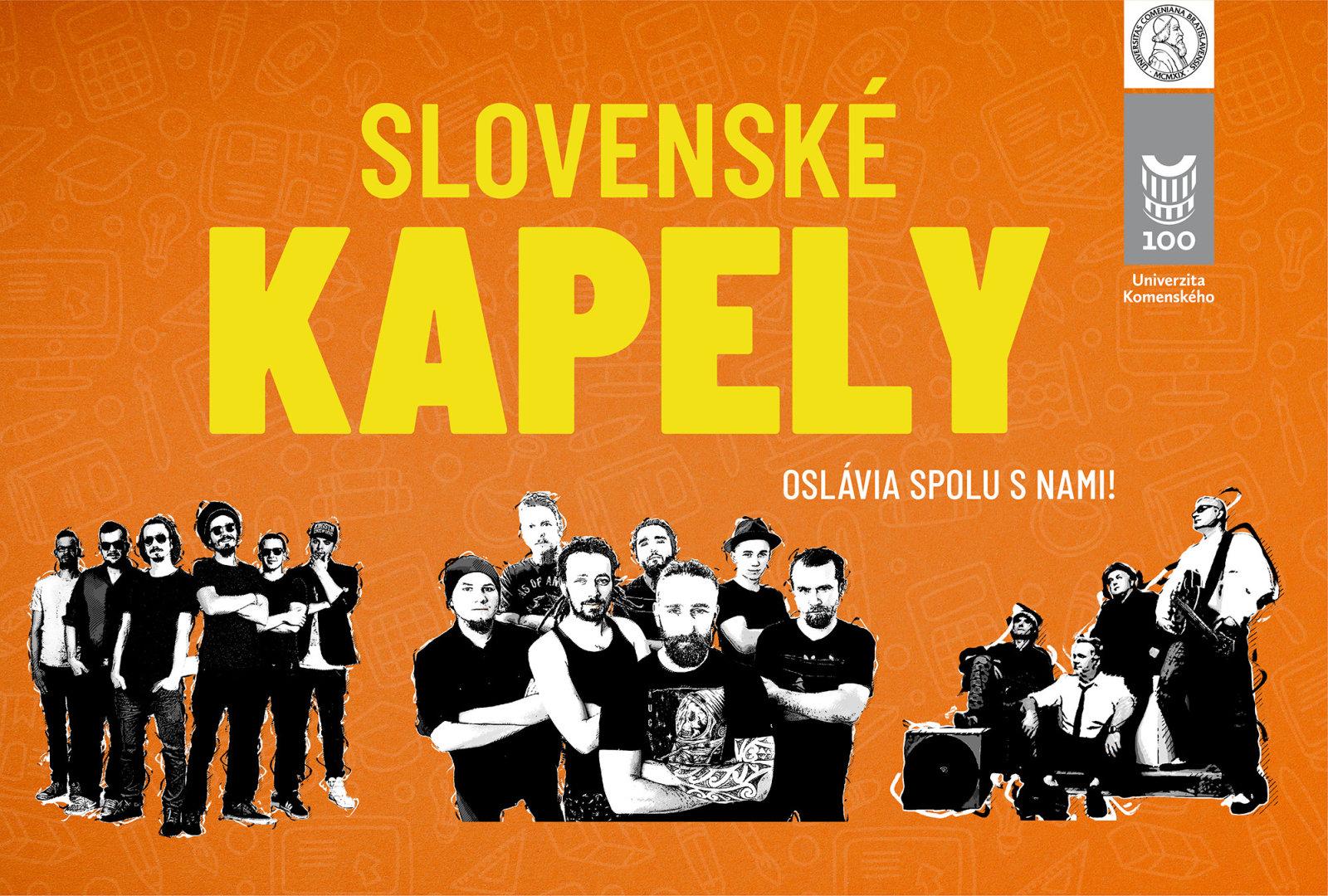 Nebudú chýbať ani TOP slovenské kapely!