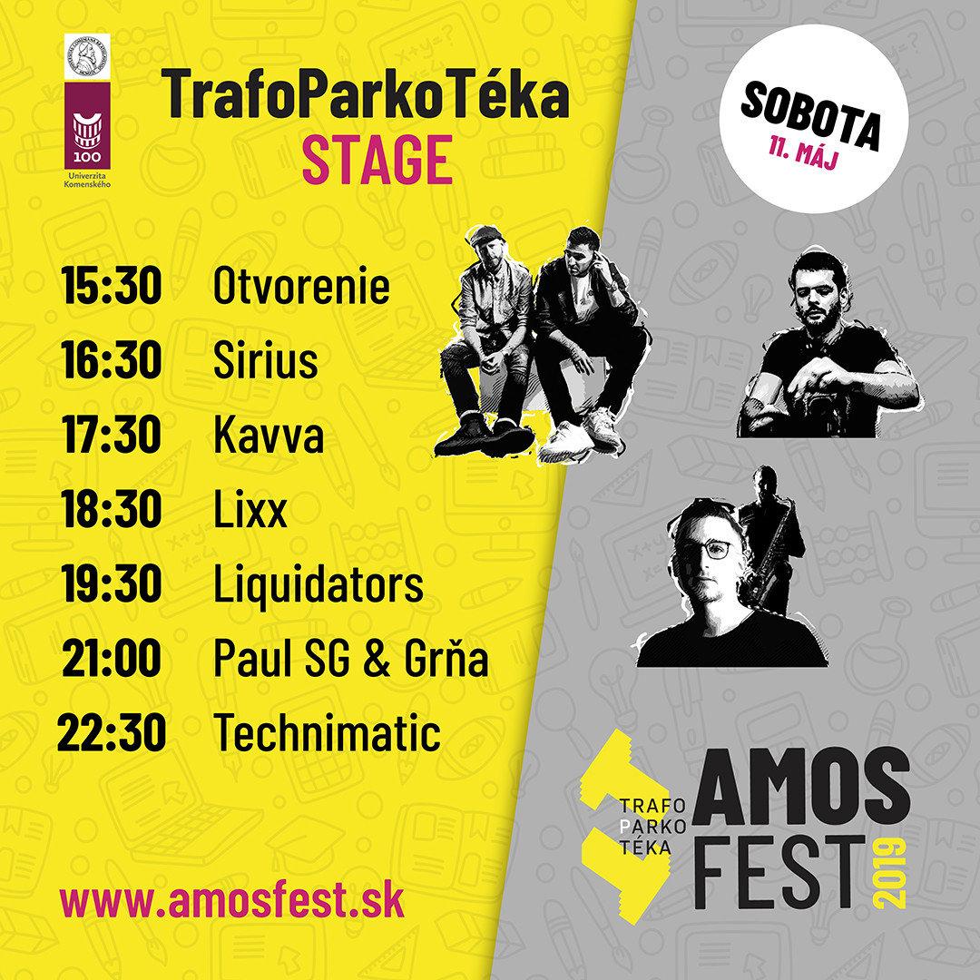 Line-up Trafostage 11. mája