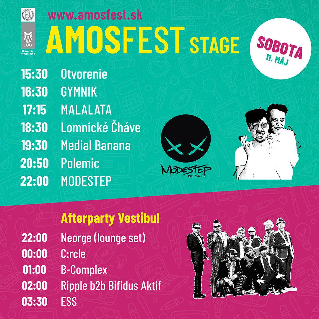 Program 11. mája Amosstage