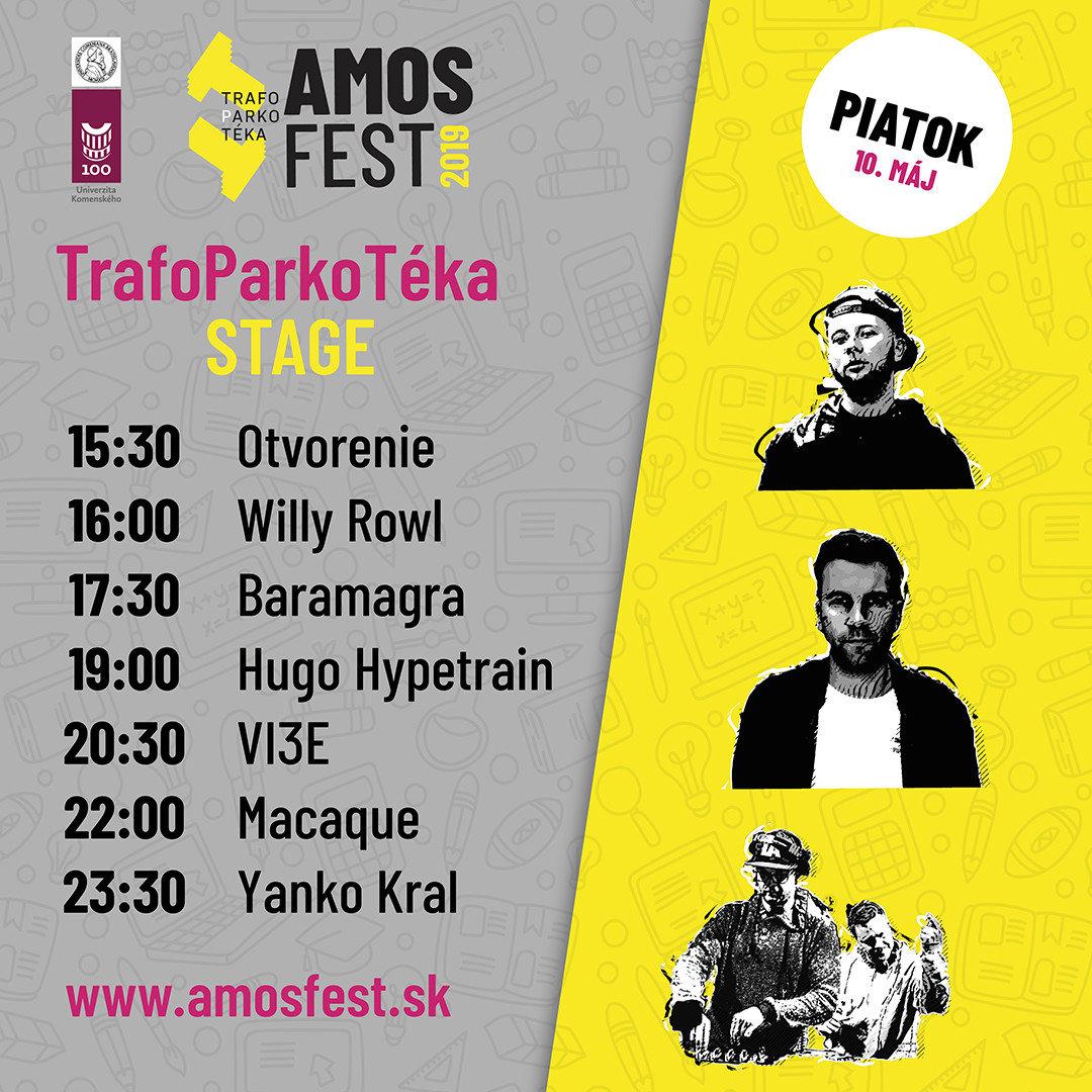 Line-up Trafostage 10. mája